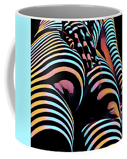 1937s-ak Sliding Her Hand Down Her Naked Back Rendered In Composition Style Coffee Mug by Chris Maher