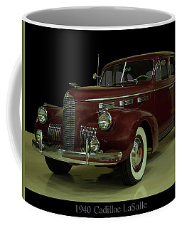 Coffee Mug featuring the photograph 1940 Cadillac Lasalle by Chris Flees