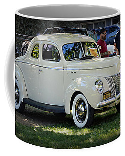 Coffee Mug featuring the photograph 1940 Ford Coupe Deluxe by AJ Schibig