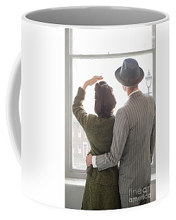1940s Couple At The Window Coffee Mug