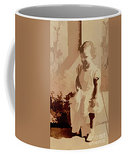 Coffee Mug featuring the photograph 1940s Little Girl by Linda Phelps