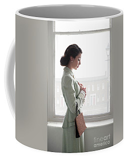 1940s Woman At The Window Coffee Mug by Lee Avison