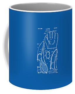1941 Baseball Glove Patent - Blueprint Coffee Mug