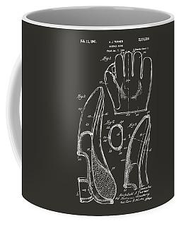 1941 Baseball Glove Patent - Gray Coffee Mug