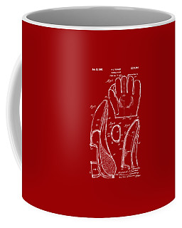 1941 Baseball Glove Patent - Red Coffee Mug