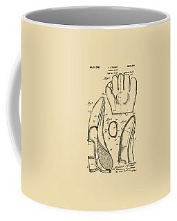 1941 Baseball Glove Patent - Vintage Coffee Mug