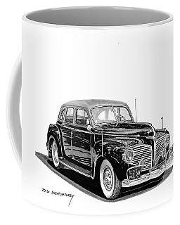 Coffee Mug featuring the painting 1941 Dodge Town Sedan by Jack Pumphrey