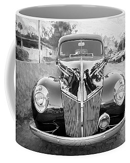 1941 Ford Deluxe Panel Truck Bw C138 Coffee Mug by Rich Franco