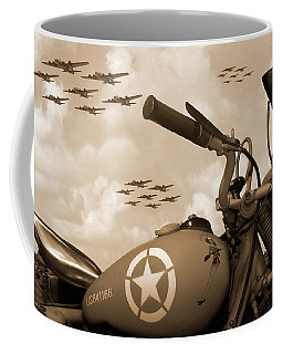 Coffee Mug featuring the photograph 1942 Indian 841 - B-17 Flying Fortress - H by Mike McGlothlen