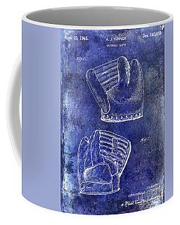 1945 Baseball Glove Patent Blue Coffee Mug