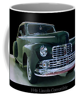 Coffee Mug featuring the photograph 1946 Lincoln Convertible by Chris Flees