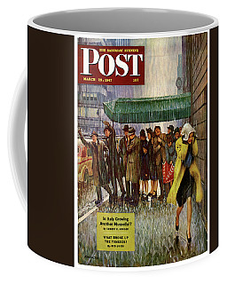 1947 Saturday Evening Post Magazine Cover Coffee Mug