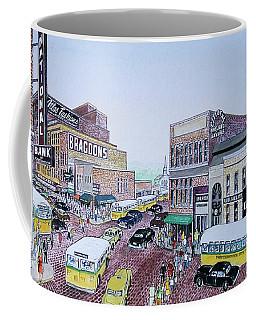 1948 Rush Hour Portsmouth Ohio Coffee Mug by Frank Hunter