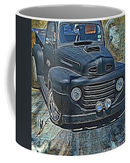Coffee Mug featuring the photograph 1949 Ford F100 Truck by Diana Mary Sharpton
