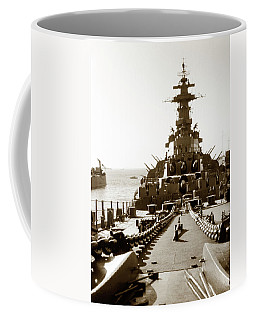 Coffee Mug featuring the photograph 1950s Uss Missouri by Marilyn Hunt