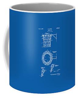 1951 Basketball Net Patent Artwork - Blueprint Coffee Mug