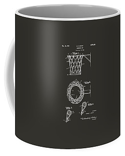 1951 Basketball Net Patent Artwork - Gray Coffee Mug