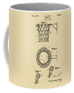 1951 Basketball Net Patent Artwork - Vintage Coffee Mug