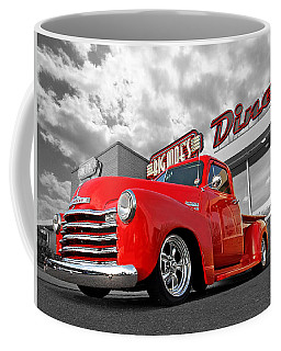 1952 Chevrolet Truck At The Diner Coffee Mug