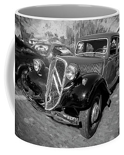 1953 Citroen Traction Avant Bw Coffee Mug by Rich Franco