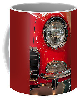 Coffee Mug featuring the photograph 1955 Chevy Bel Air Headlight by Sebastian Musial