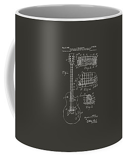 1955 Mccarty Gibson Les Paul Guitar Patent Artwork - Gray Coffee Mug