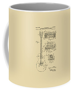 1955 Mccarty Gibson Les Paul Guitar Patent Artwork Vintage Coffee Mug by Nikki Marie Smith