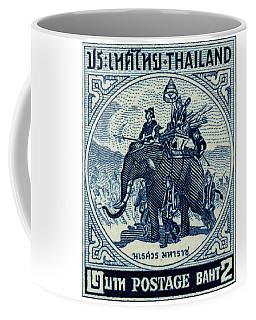 1955 Thailand War Elephant Stamp Coffee Mug