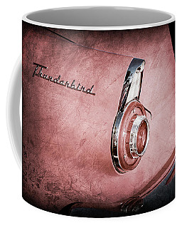 Coffee Mug featuring the photograph 1956 Ford Thunderbird Convertible Taillight Emblem -0361ac by Jill Reger