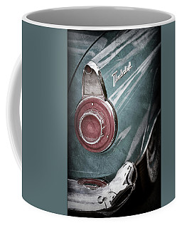 Coffee Mug featuring the photograph 1956 Ford Thunderbird Taillight Emblem -0382ac by Jill Reger