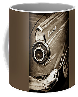 Coffee Mug featuring the photograph 1956 Ford Thunderbird Taillight Emblem -0382s by Jill Reger