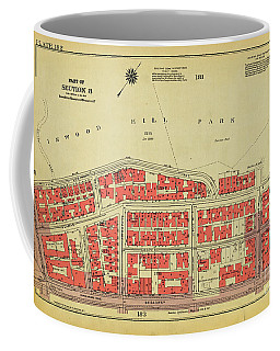 Coffee Mug featuring the photograph 1956 Inwood Map  by Cole Thompson