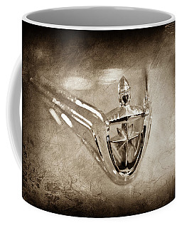 1956 Lincoln Premier Convertible Hood Ornament -0832s Coffee Mug by Jill Reger