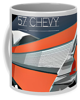1957 Chevy Art Design By John Foster Dyess Coffee Mug