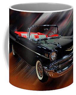 1957 Chevy Bel Air Convertible Digital Oil Coffee Mug