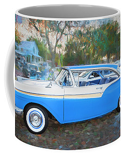 1957 Ford 2 Door Fairlane C130 Coffee Mug