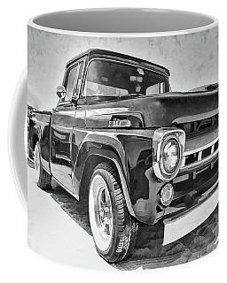 1957 Ford F100 In Black And White Coffee Mug