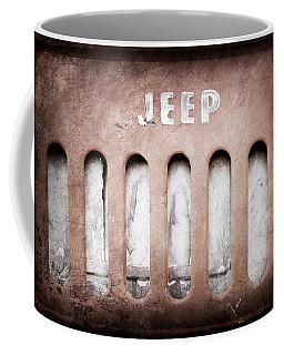 1957 Jeep Emblem -0597ac Coffee Mug