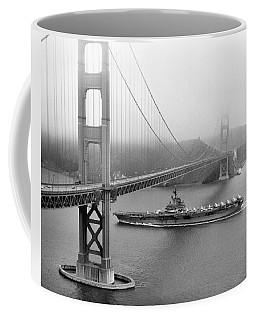 1957 Uss Hancock In San Francisco Coffee Mug