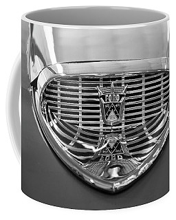 Coffee Mug featuring the digital art 1958 Ford Fairlane Sunliner Intake Bw by Chris Flees
