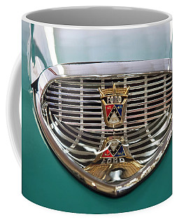 Coffee Mug featuring the digital art 1958 Ford Fairlane Sunliner Intake by Chris Flees
