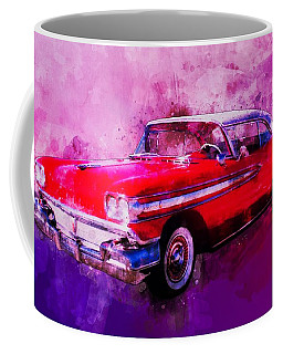 1958 Oldsmobile Hardtop With Continental Kit In Tow Coffee Mug