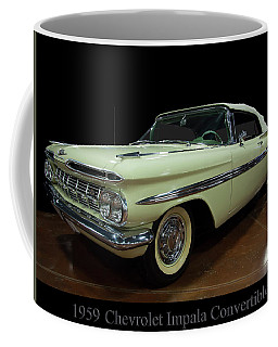 Coffee Mug featuring the photograph 1959 Chevy Impala Convertible by Chris Flees