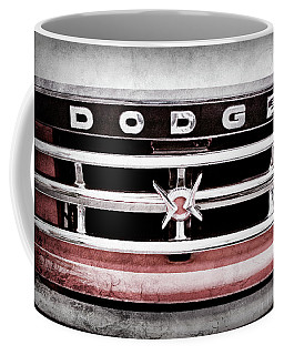 1960 Dodge Truck Grille Emblem -0275ac Coffee Mug