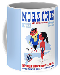 1960 Morzine France Resort Travel Poster Coffee Mug