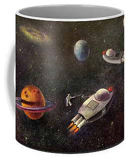 1960s Outer Space Adventure Coffee Mug by Randy Burns