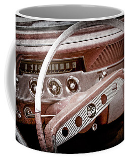 Coffee Mug featuring the photograph 1961 Chevrolet Impala Ss Steering Wheel Emblem -1156ac by Jill Reger