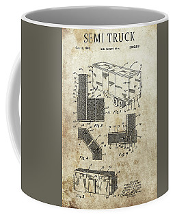 1961 Semi Truck Patent Coffee Mug