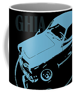 1962 Karmann Ghia Pop Art Blue Coffee Mug