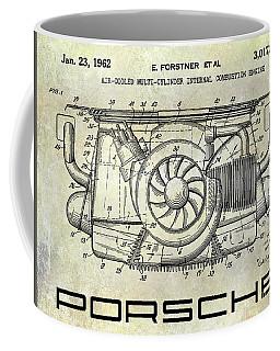 1962 Porsche Engine Patent Coffee Mug